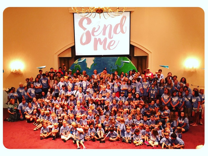 "Vbs 2016 ""Send Me""  T-Shirt Photo"
