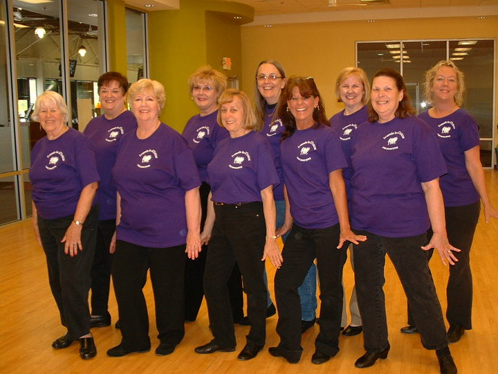 Friends In Motion Line Dance Group T-Shirt Photo
