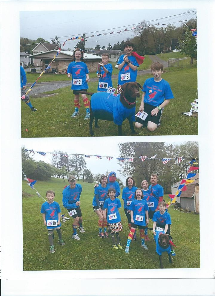 Family Super Hero Fun Run T-Shirt Photo