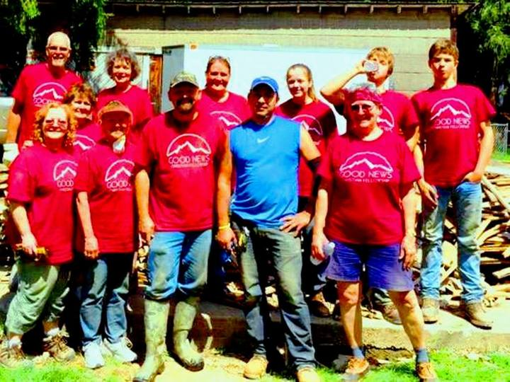 Good News Disaster Relief Team Tired But Smiling T-Shirt Photo
