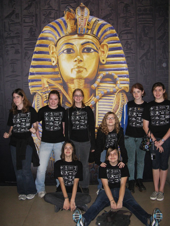 Girl Scouts Visit King Tut T-Shirt Photo
