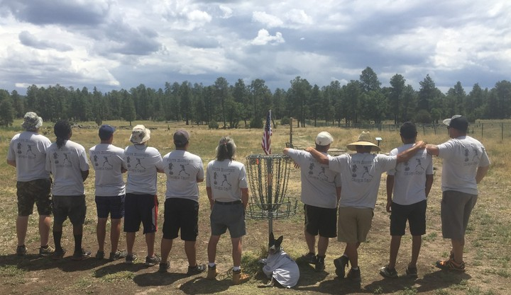 White Mountain Church Group Disc Golf Club T-Shirt Photo
