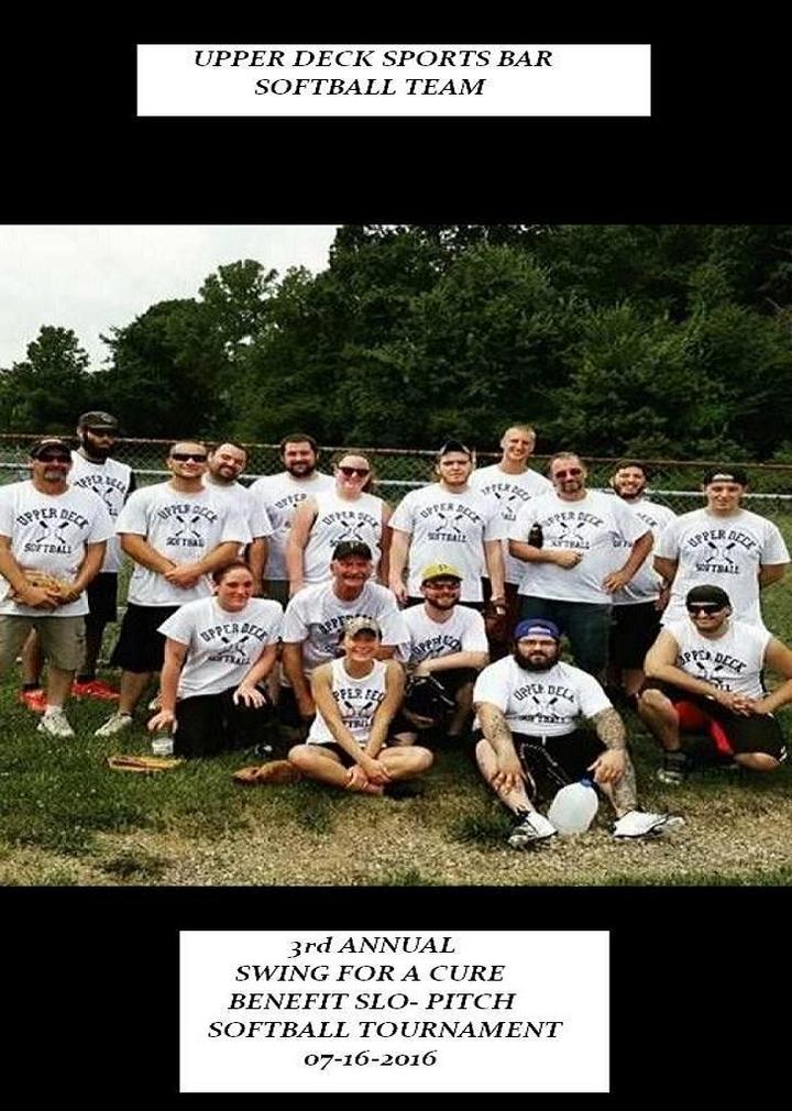 Upper Deck Sports Bar Softball Team T-Shirt Photo