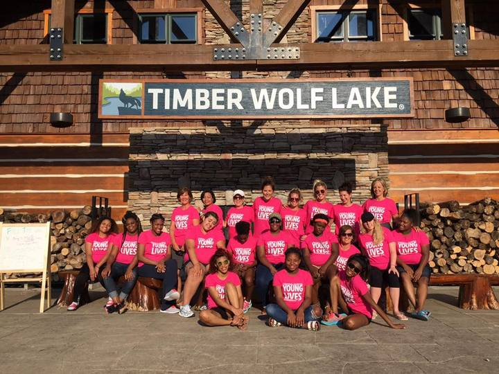Young Lives Camp At Timberwolf Lake T-Shirt Photo