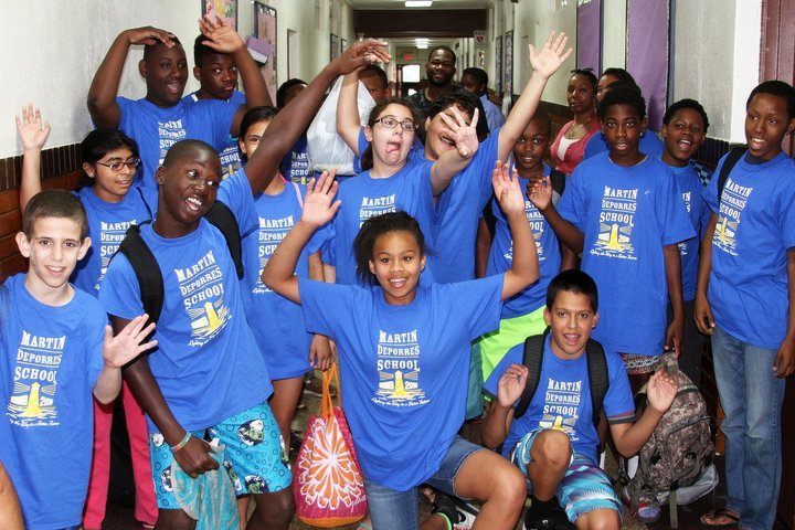 Martin De Porres School Lights Up With Custom Ink T-Shirt Photo