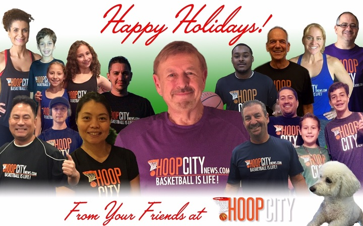 Hoop City News Christmas Card T-Shirt Photo