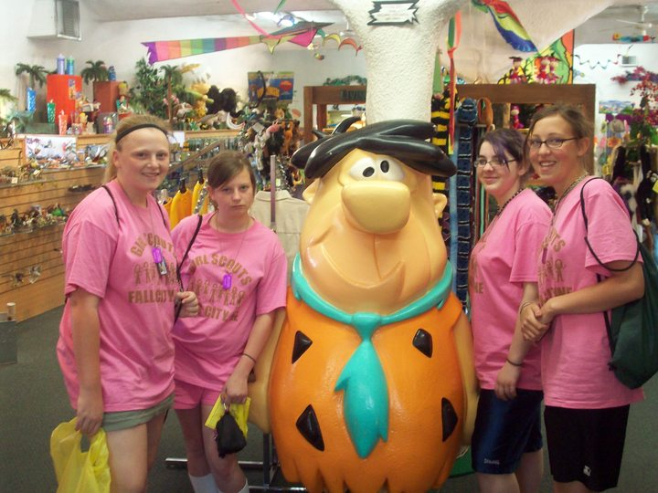 Girl Scouts Visit The Flinstones T-Shirt Photo