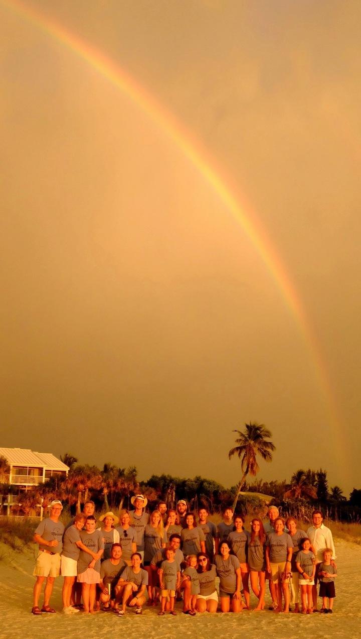 Stormy Beach Rainbow T-Shirt Photo