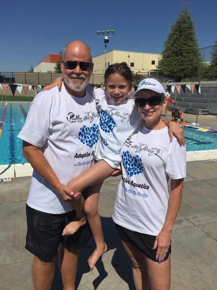 Love, Olivia & Rocklin Swim Team Adaptive Aquatics T-Shirt Photo