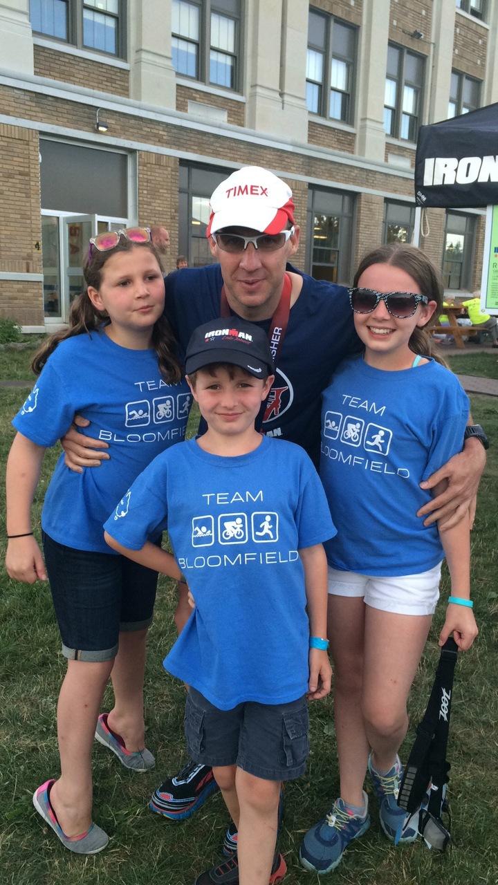 Dad Survived Ironman Lake Placid T-Shirt Photo