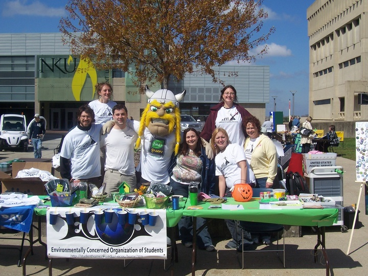 Victor Green With Ecos Members At Nku Earth Day T-Shirt Photo
