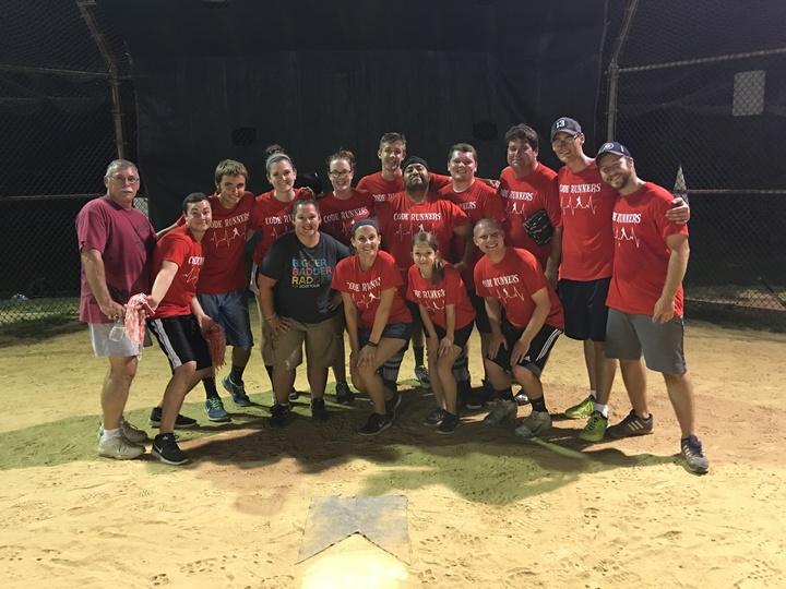 Code Runners Softball Team T-Shirt Photo