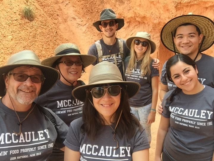 Showin Our Mccauley Family Pride On Our Vacation To Utah This Year. T-Shirt Photo
