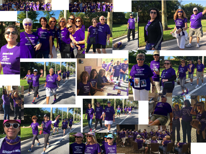 A Collage Of Valencia Reserve's Mini Alzheimer's Walk T-Shirt Photo