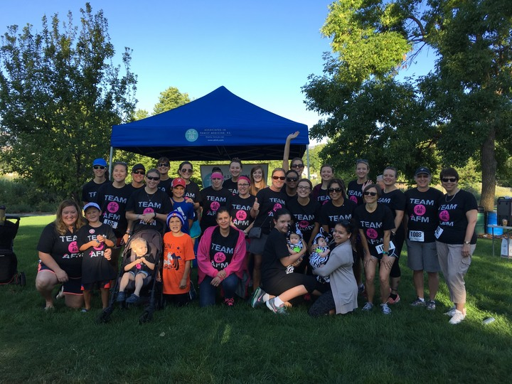 Team Afm At The 2016 Run For Hope 5k T-Shirt Photo