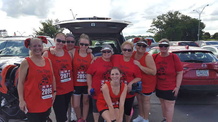The Tipsy Ladybugs Do A 5 K! T-Shirt Photo