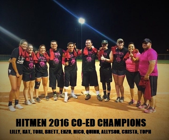 Hitmen 2016 Summer Co Ed Champions T-Shirt Photo