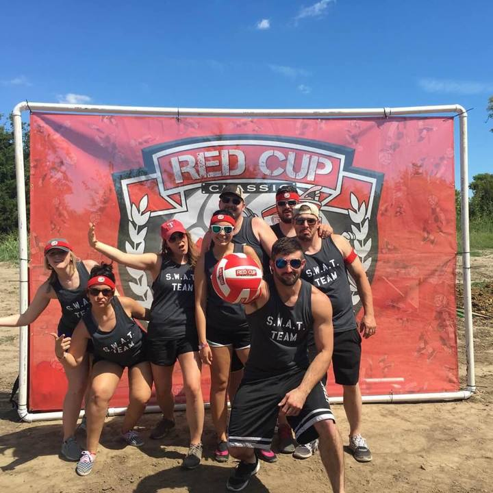 Swat Team At Red Cup Mud Volleyball Tournament T-Shirt Photo