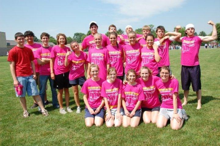 """""""Ibreakyoface"""", The Winning Senior Powderpuff Ladies Slogan T-Shirt Photo"""