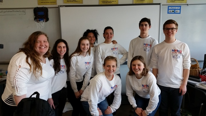Nathan Hale High School's Anti Bullying Club! T-Shirt Photo