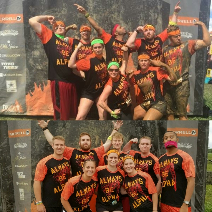 Tough Mudder Before And After T-Shirt Photo