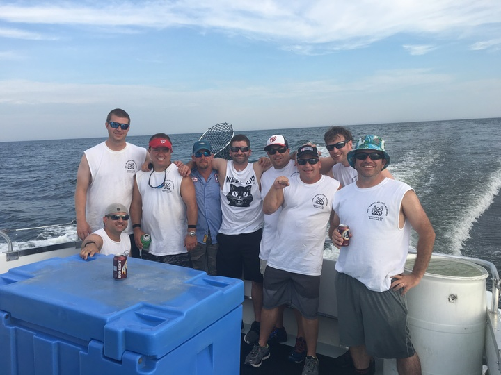 Rock Fishing In Custom Ink On The Chesapeake Bay! T-Shirt Photo