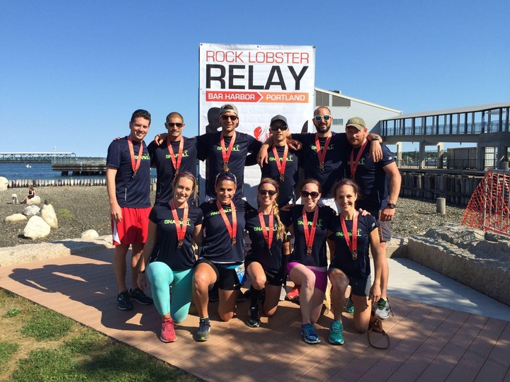Team Gnar Kill At The Rock Lobster Relay Finish Line T-Shirt Photo