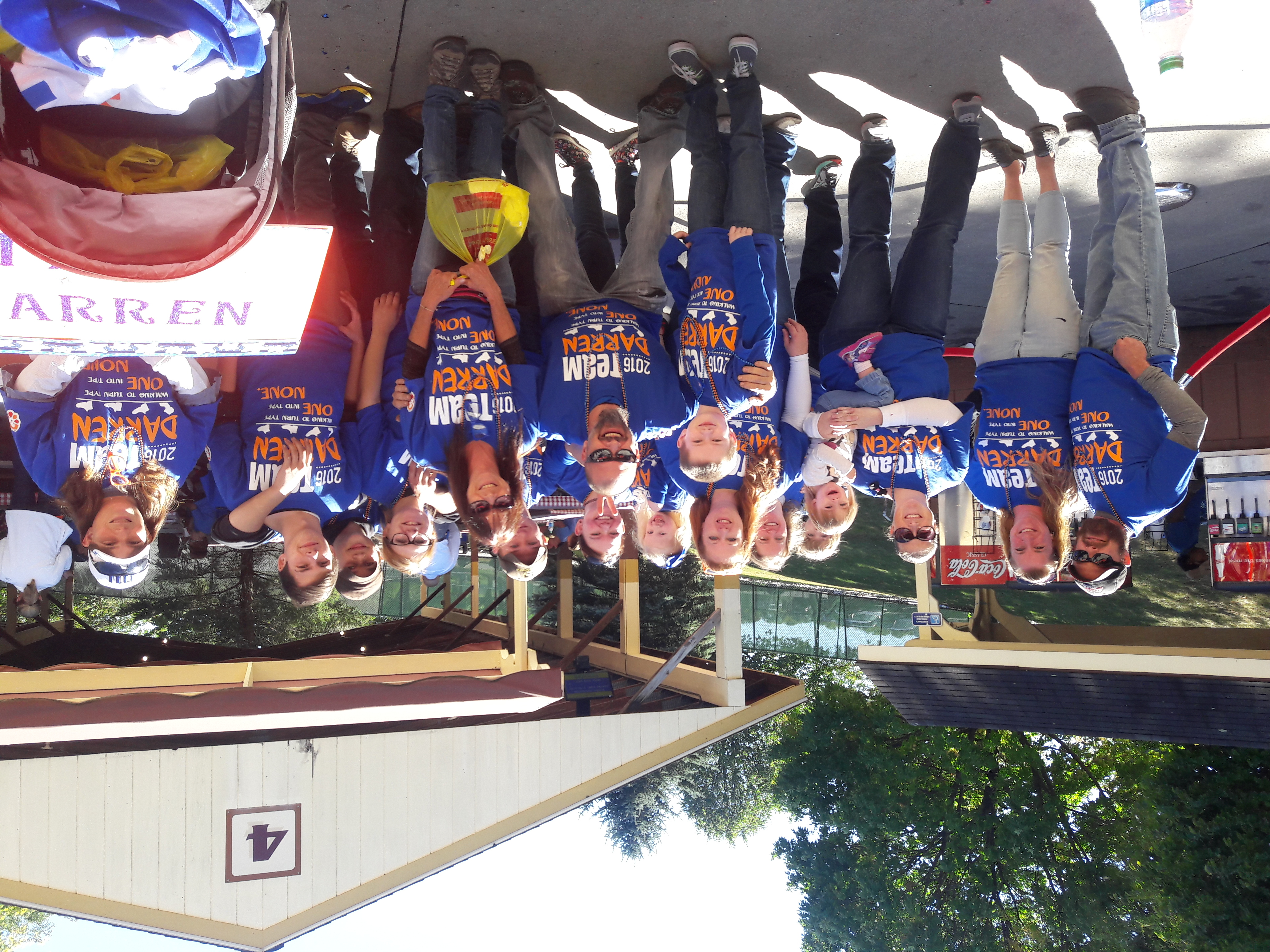 Custom T Shirts For Team Darren At The Jdrf One Walk 2016