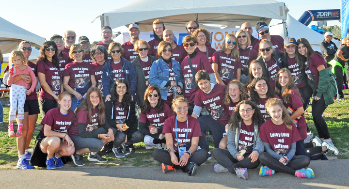 Team Lucky Lucy And Jolly Jane At Jdrf One Walk T-Shirt Photo
