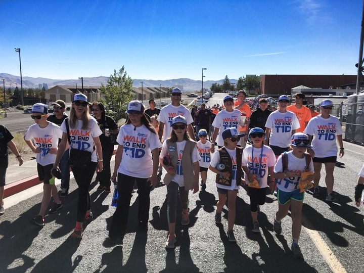 Let's Dia Beat This!!!  Jdrf Walk, Reno 2016 T-Shirt Photo