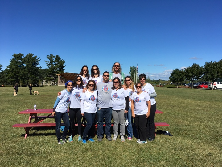 Team Hoot At Vermont Als Walk T-Shirt Photo