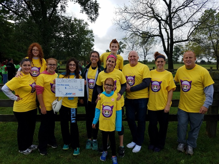 Diabetic Demons At Jdrf Walk 2016 T-Shirt Photo