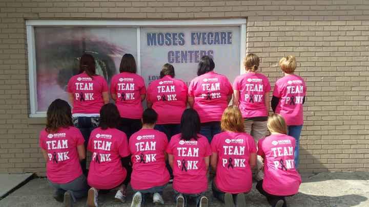 Team Pink At Moses Eyecare T-Shirt Photo