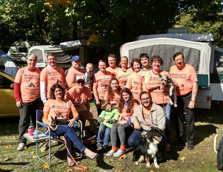 25th Annual Halloween Campout T-Shirt Photo