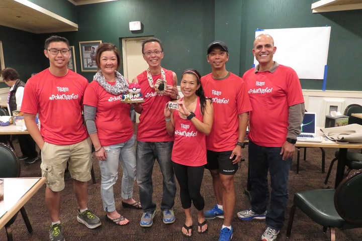 Team #Poke Chan Go: Peter's Tahoe 200 Mile Endurance Run T-Shirt Photo