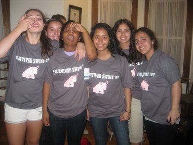 I Survived Swine '09 T-Shirt Photo
