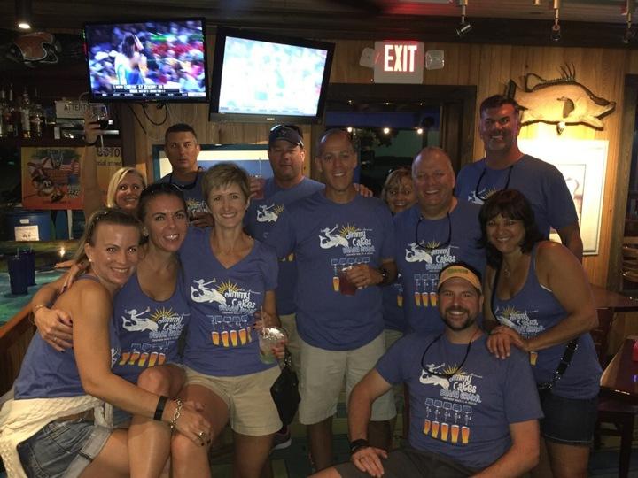 """Jimmy Cakes"" Beach Crawl T-Shirt Photo"