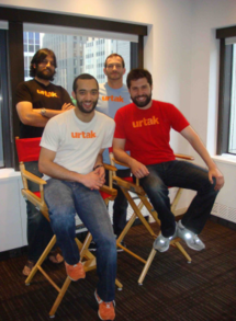 Urtak Team At Time Inc. In Nyc T-Shirt Photo