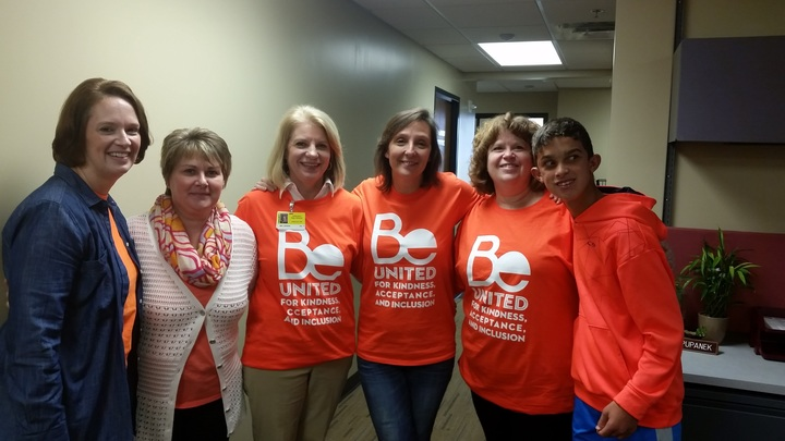 Jefferson Staff Displaying Unity T-Shirt Photo
