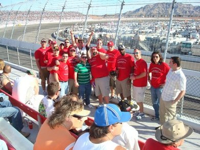 Vegas Race Group Shot T-Shirt Photo