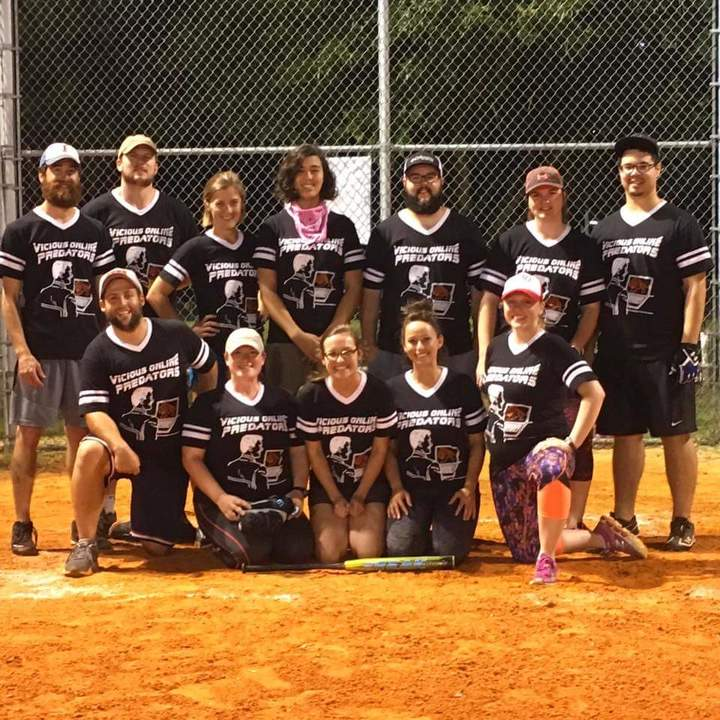 The Okay Est Softball Team Around T-Shirt Photo
