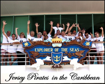 Jersey Pirates In The Caribbean T-Shirt Photo
