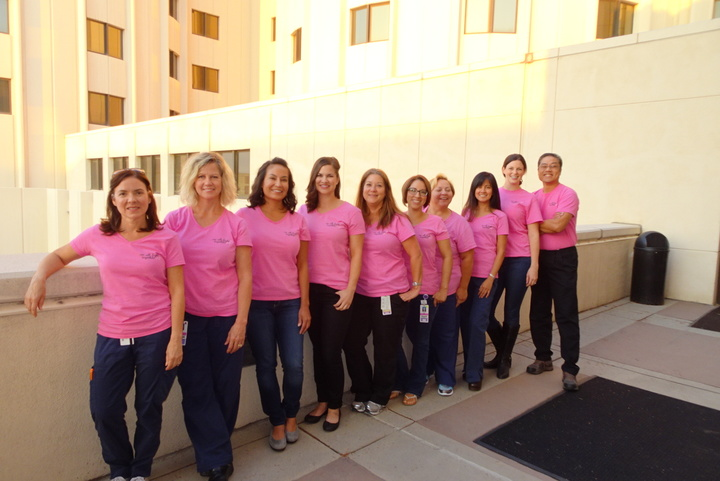 Nicu Transport Team Supports Breast Cancer T-Shirt Photo