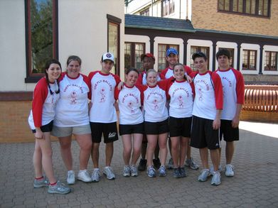 Fly Ballers College Softball Team T-Shirt Photo