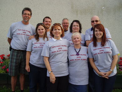 2009 Pope Family Reunion T-Shirt Photo