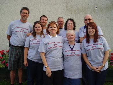 2009 Pope Family Reunion T-Shirt Photo