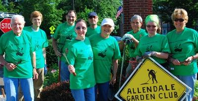 Allendale Garden Club At Work T-Shirt Photo