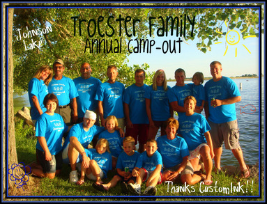 Troester Family Annual Camp Out Johnson Lake T-Shirt Photo