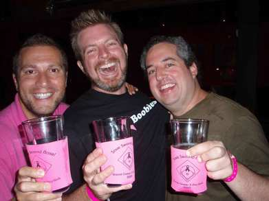 Breast Cancer Pub Crawl With Custom Ink T-Shirt Photo