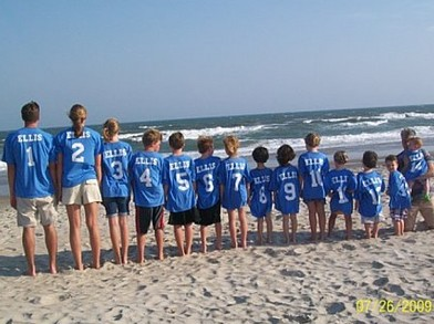 Colorful, 14 Ellis Grandkids  Emerald Isle, Nc 2009 T-Shirt Photo